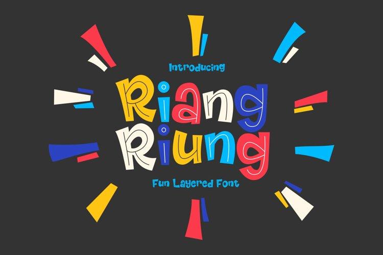 Riangriung - Fun Layered Font // Web Font example image 1