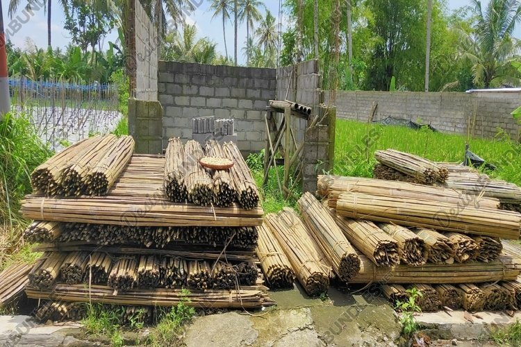 stack of bamboo pieces neatly arranged example image 1