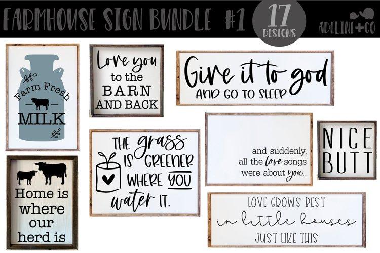 Farmhouse sign bundle #1, SVG, bundle