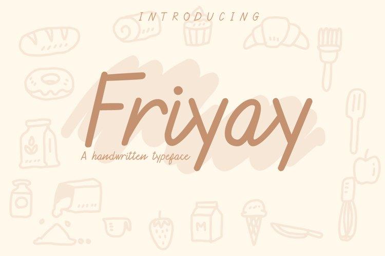 Friyay Handwritten Typeface example image 1