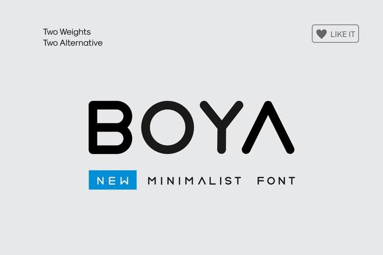 BOYA (rounded Font)