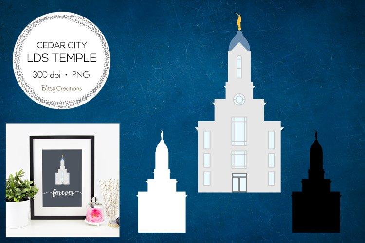 Cedar City Utah LDS Temple Clipart example image 1