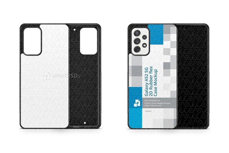 Galaxy A52 5G 2021 2d Rubber Flex Case Design Mockup