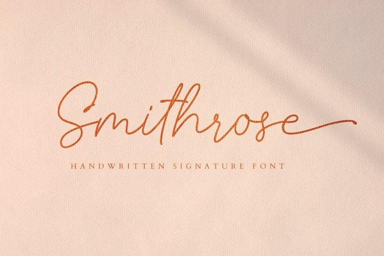 Smithrose - Signature Typeface example image 1