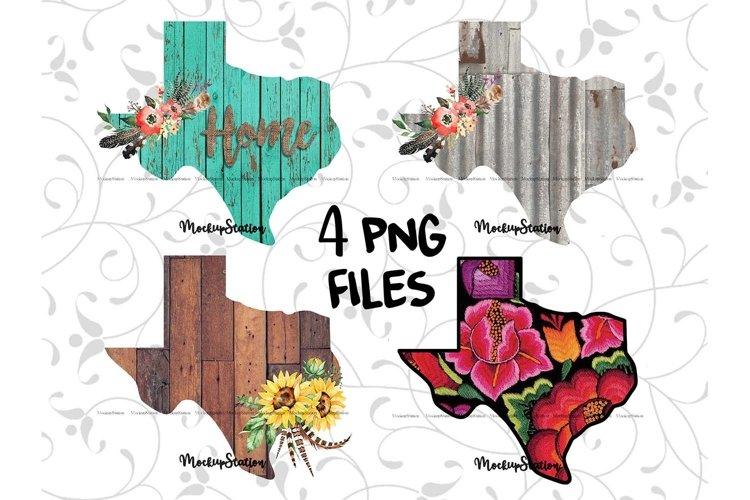 Sublimation Texas PNG Bundle, TX State Flower Wood Clip Art