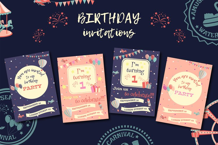 Birthday invitations.