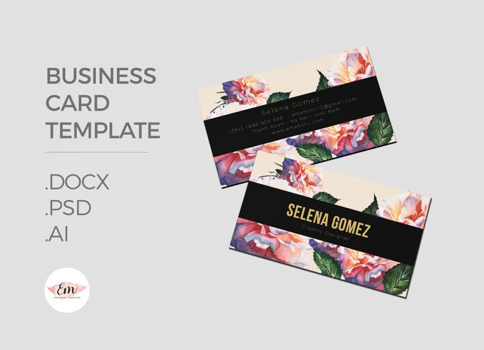 Elegant Business Card Template / Creative Business Card / Modern card