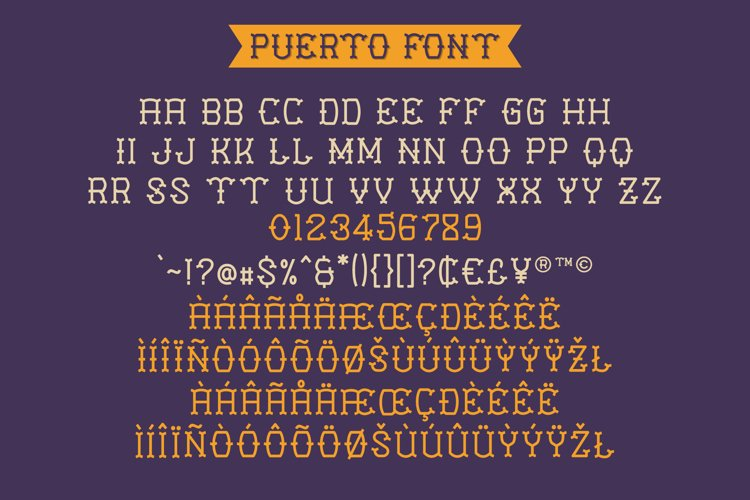 Puerto Playful Tattoo Font example 5