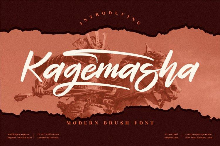 Kagemasha - Modern Brush Font example image 1