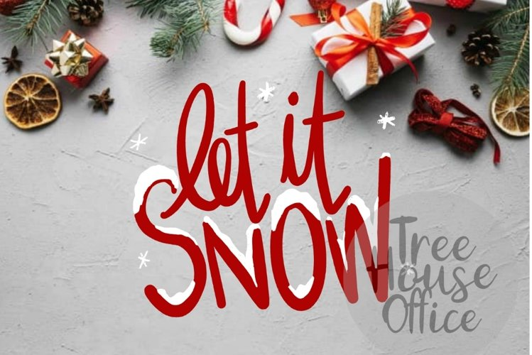 Let It Snow Christmas Song Quote Saying Holiday SVG DXF PNG example image 1