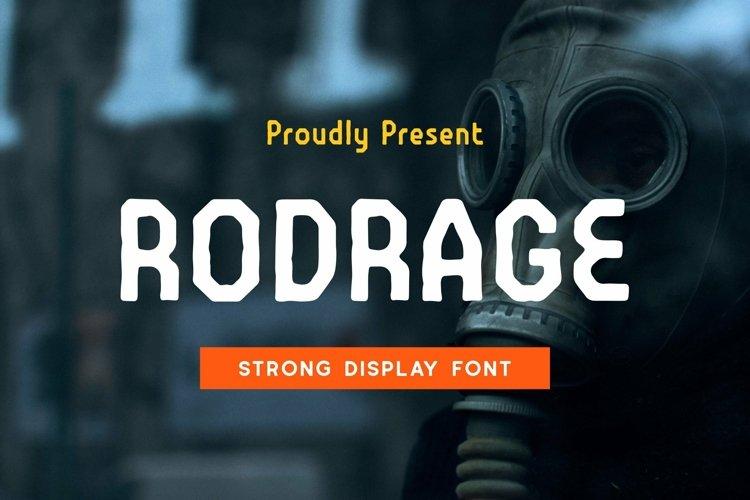 Web Font Rodrage Font example image 1