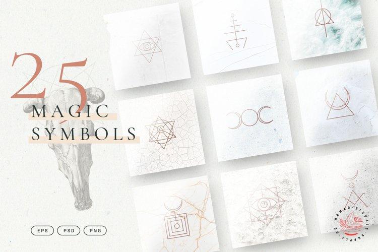 Minimalistic Magic Symbols - Occult Shapes example image 1