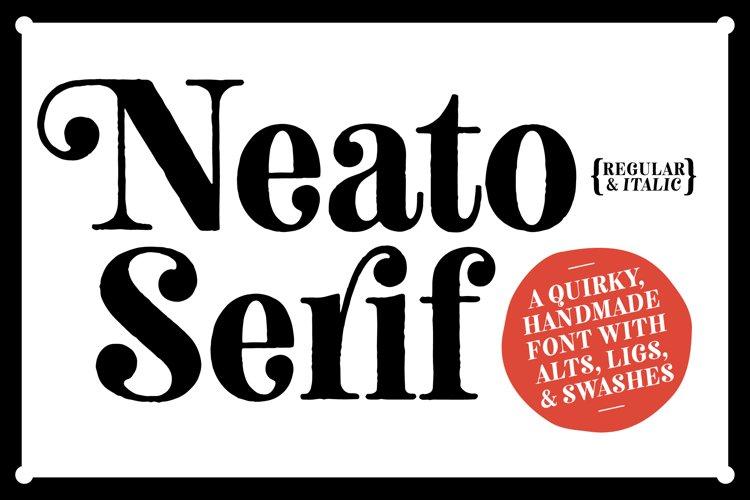 Neato Serif Font Family