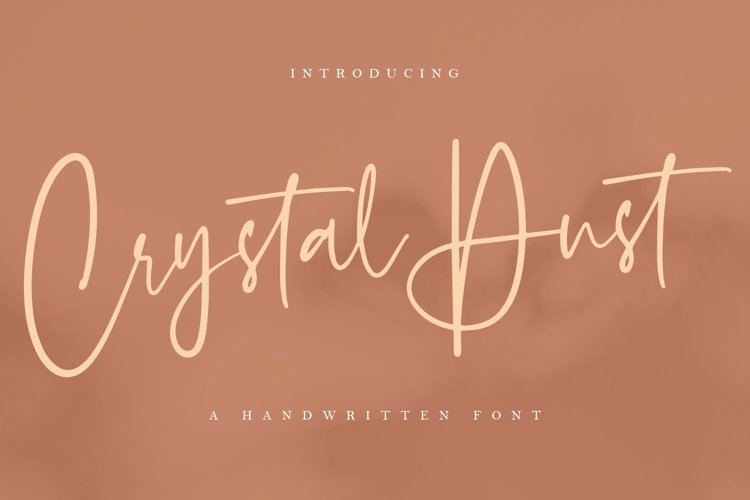 Crystal Dust - a Handwritten Font example image 1