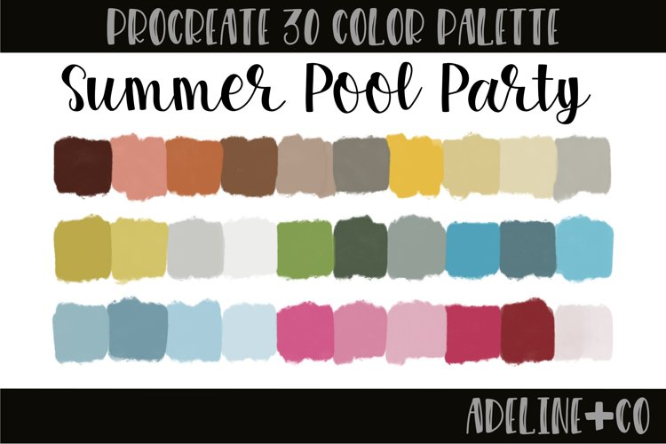 Summer Pool Party Procreate color palette example image 1