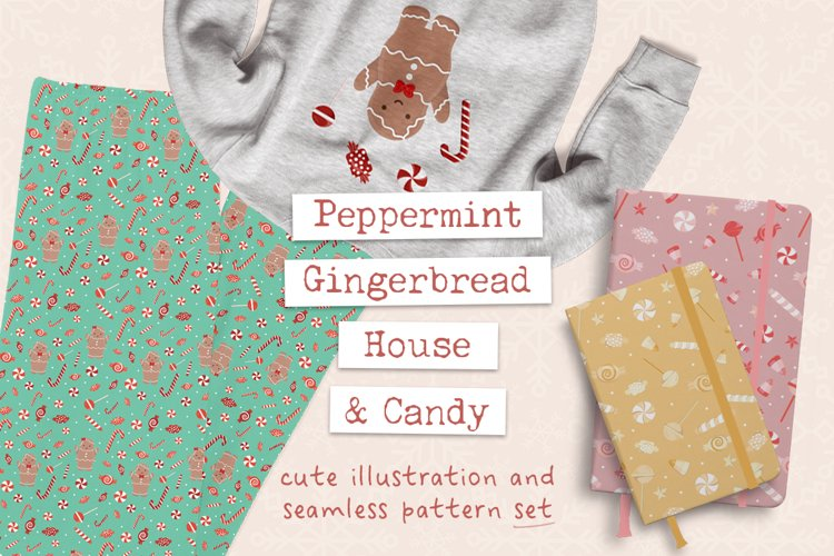 Peppermint Gingerbread House & Candy