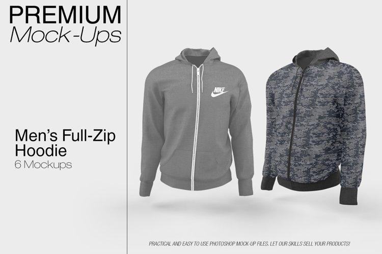 Men's Full-Zip Hoodie Mockup example image 1