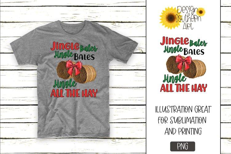 Sublimation Designs for Tshirts Jingle Bale Christmas Design example image 1