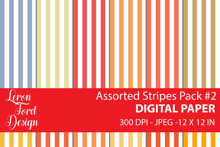 Assorted Stripes Pack #2 Digital Paper example image 1