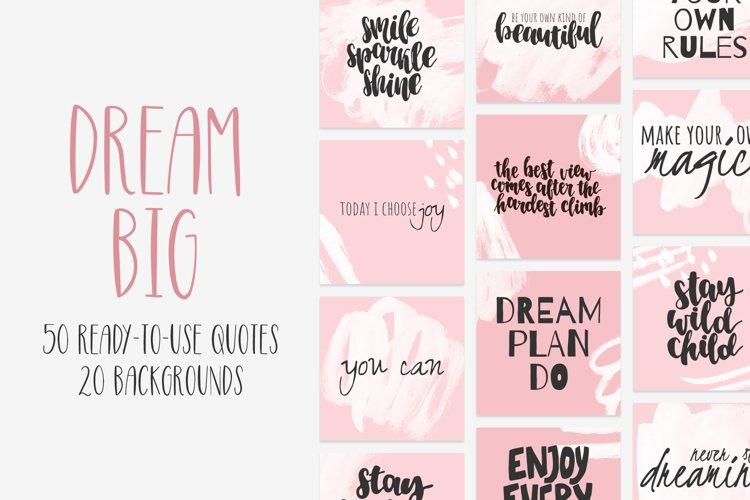 DREAM BIG quotes bundle example image 1