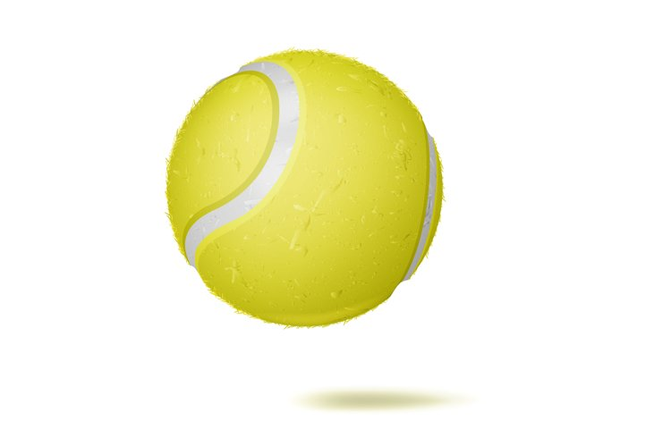 3D Tennis Ball Vector. Classic Yellow Ball. Illustration example image 1