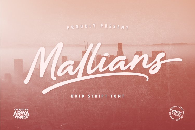 Mallians   Bold Signature Font example image 1