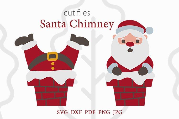 Santa svg, santa chimney svg, dxf, pdf, jpeg, png