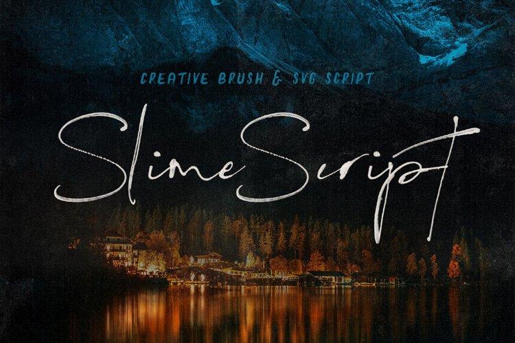 Slime SVG Script Font example image 1