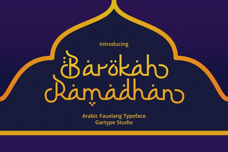 Barokah Ramadhan - Arabic Fauxlang Font example image 1