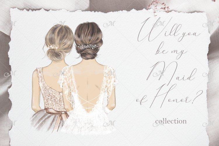Bride & Bridesmaids Art Collection