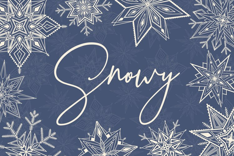 Snowy | 65 snowflakes illustrations example image 1
