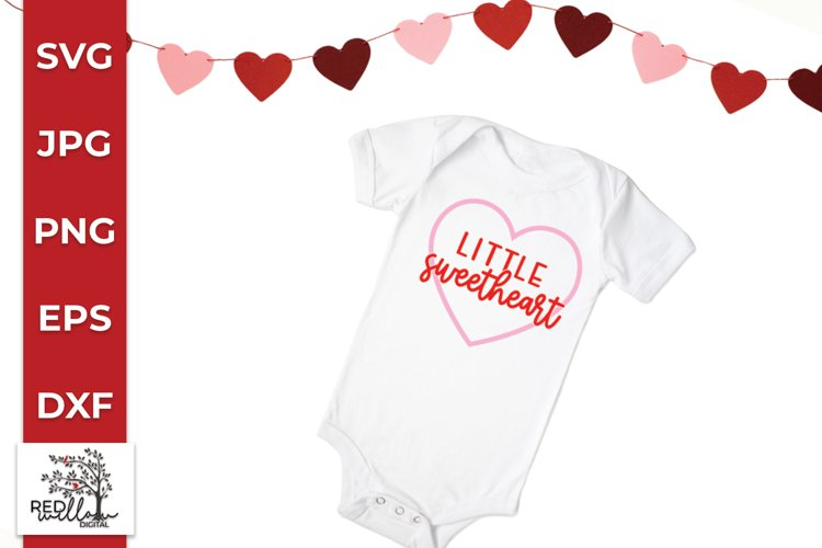 Little Sweetheart SVG, Valentine's Day SVG example image 1
