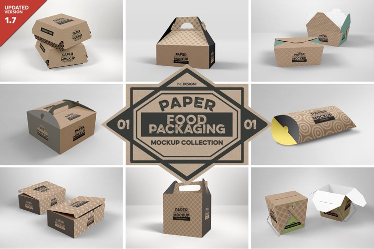 VOL.1 Food Box Packaging MockUps example image 1