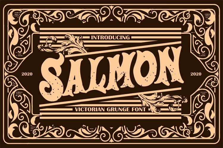 Salmon   Victorian Grunge Font example image 1