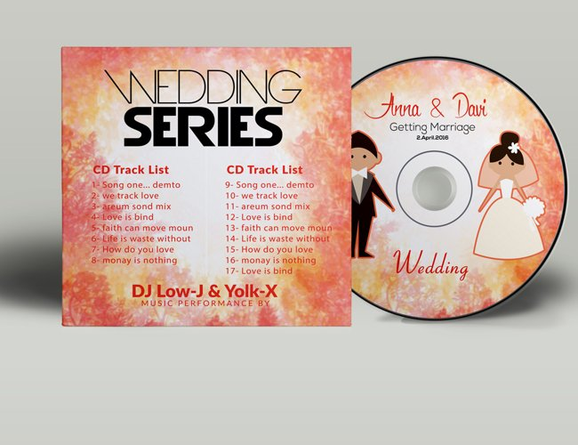 Wedding CD Covers Templates example image 1