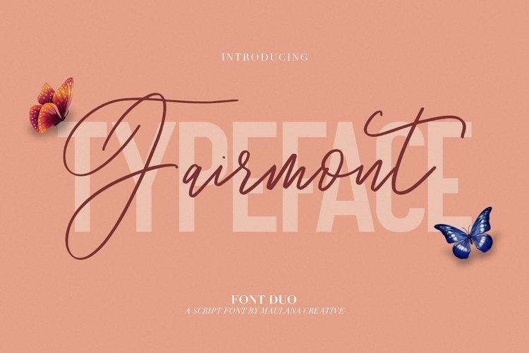 Fairmont - Script Sans Font example image 1