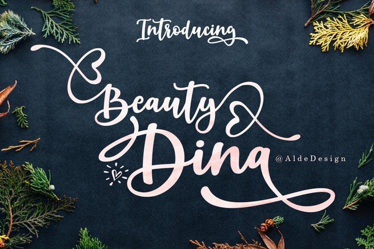 Beauty Dina | Beautiful Brush Script Font example image 1
