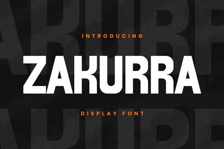 Web Font ZAKURRA Font example image 1