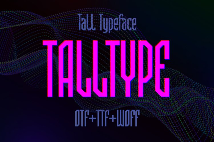 Talltype font example image 1