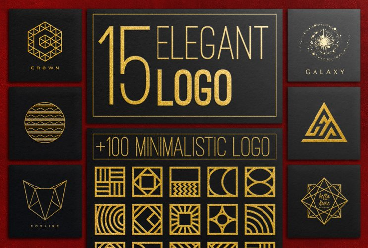 Elegant Logos Bundle example image 1