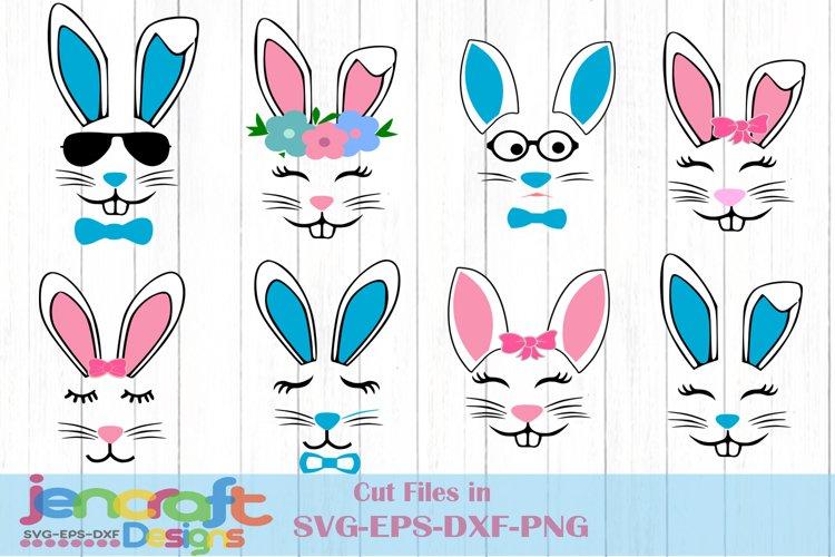 Easter svg Bundle, Bunny Face SVG, Easter Rabbit