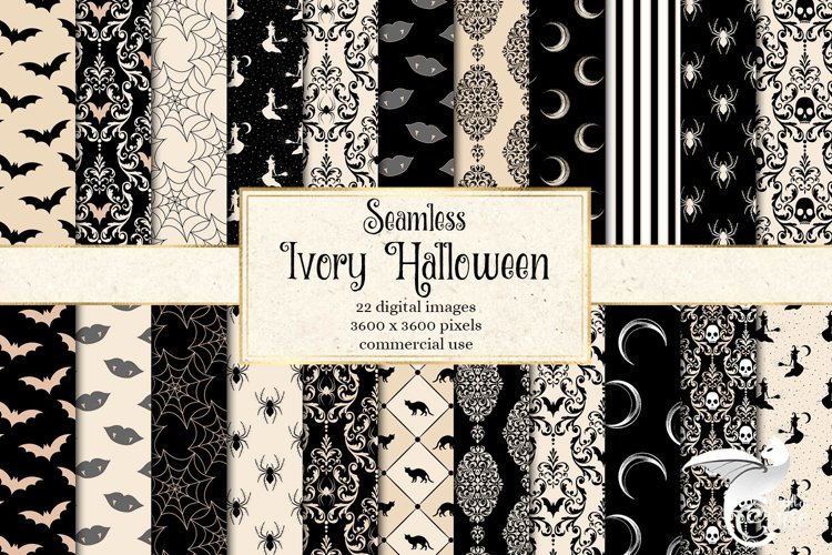 Ivory Halloween Digital Paper example image 1