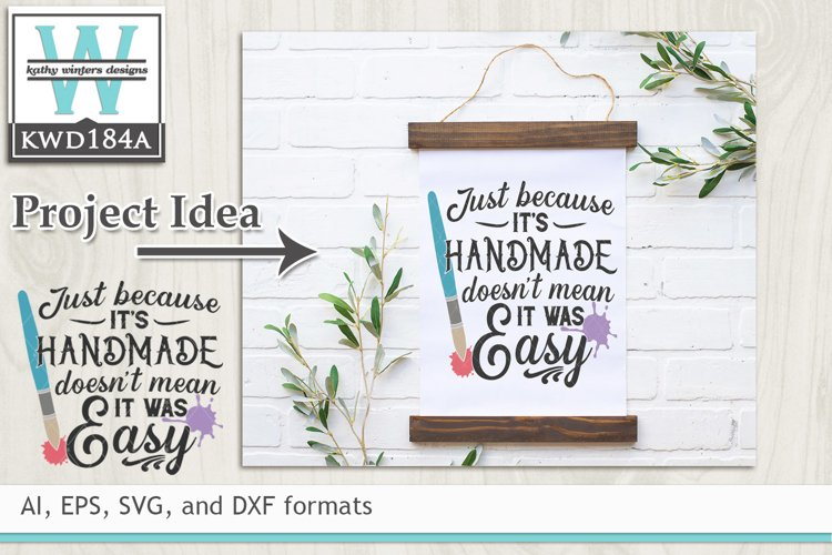Creativity SVG - Just Because Its Handmade