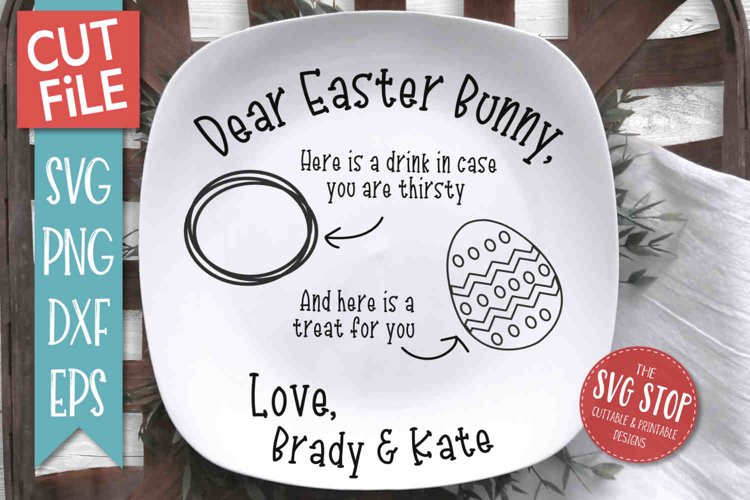 Easter Plate SVG, PNG, DXF, EPS