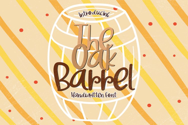 The Oak Barrel - A Bouncy Handwritten Font example image 1