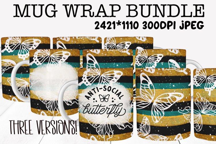 Mug Sublimation Wrap - Antisocial Butterfly Bundle example image 1