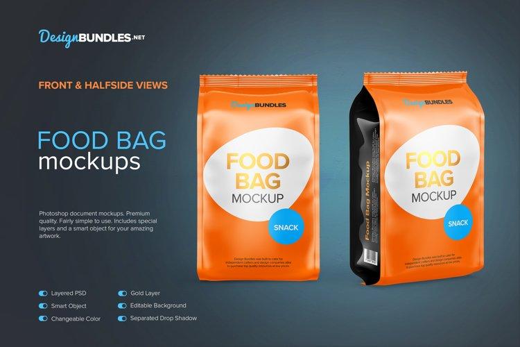Food Bag Mockups example