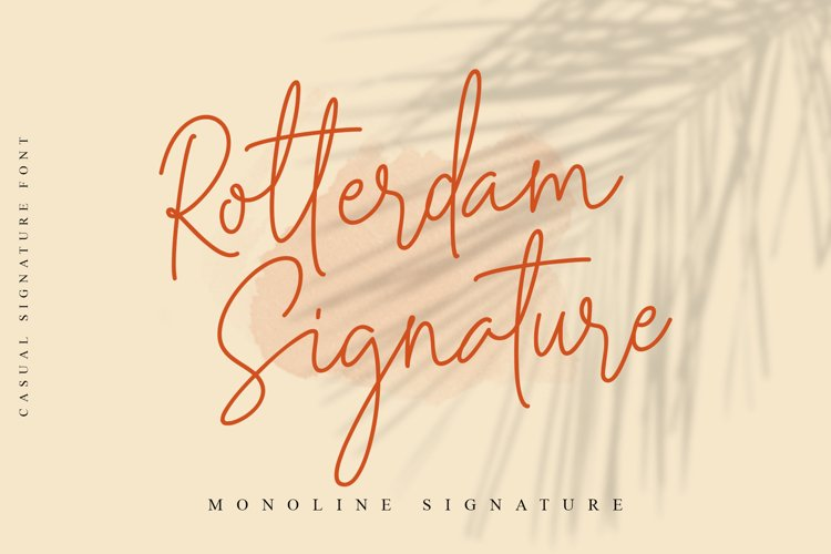 Rotterdam Signature - Casual Script example image 1