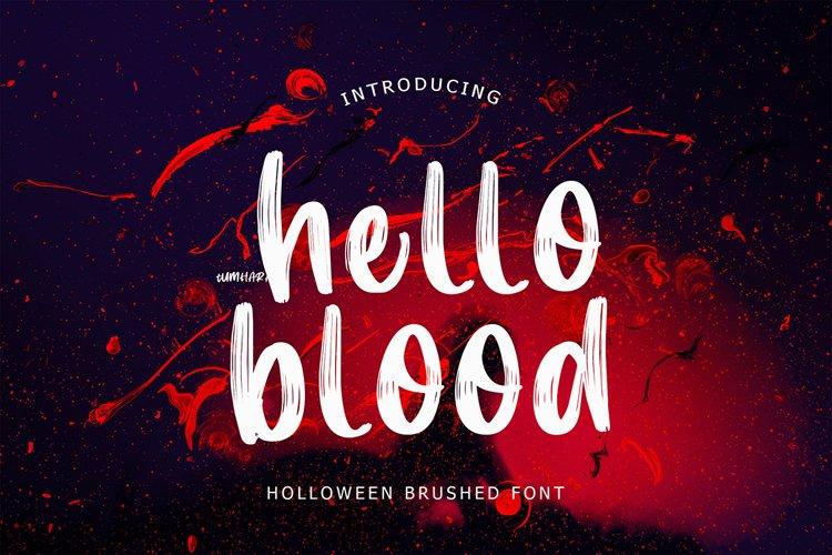 Hello Blood Helloween Brush Font example image 1