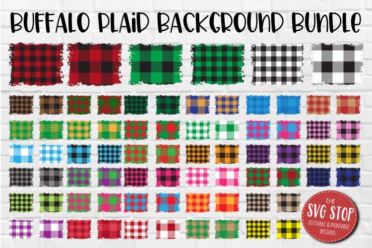 Buffalo Plaid Backsplash Christmas Background Bundle PNG